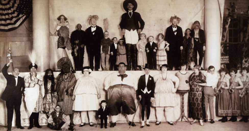 "Ringling Bros. ""Congress of Freaks"" circa 1924. Wikimedia Commons"