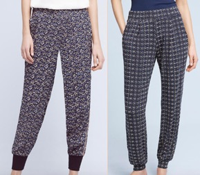 Berlin Joggers on the left. Sonadora Sleep Pants on the right.